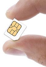 Micro-SIM-Karte in Micro SIM Karte